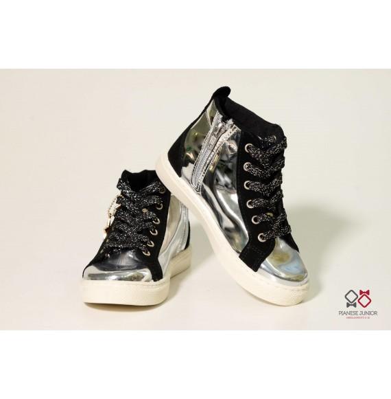 Sneakers alta argento