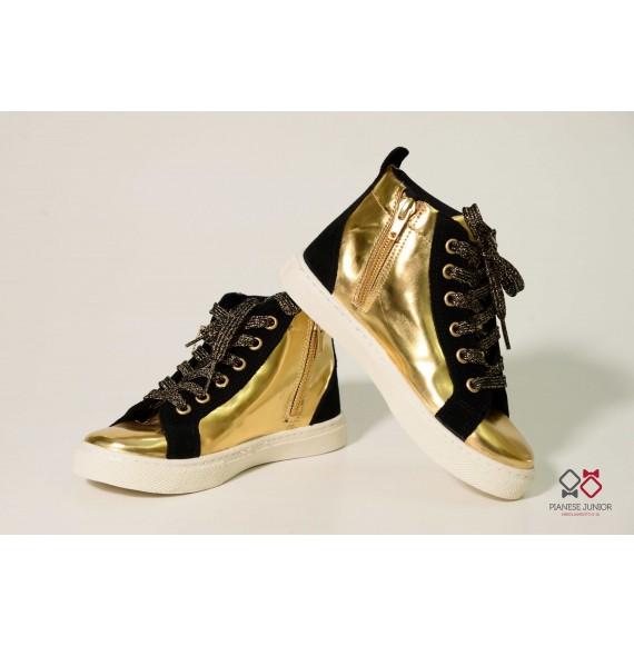 Sneakers alta oro