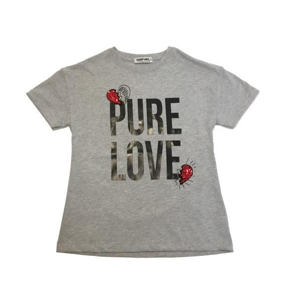 T-shirt con stampa PURE LOVE