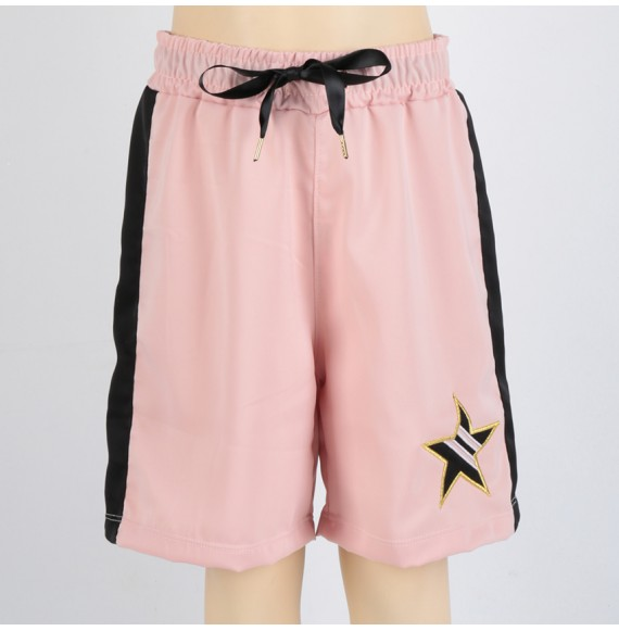 SHOPART - Short in raso con stella