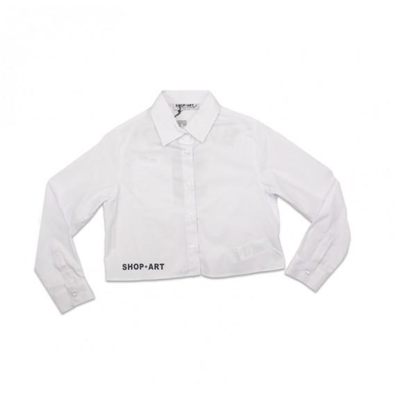 SHOPART - Camicia corta con taschino e stampa sul retro