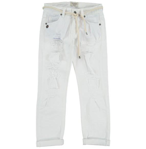 FRED MELLO - Pantalone jeansato con strappi