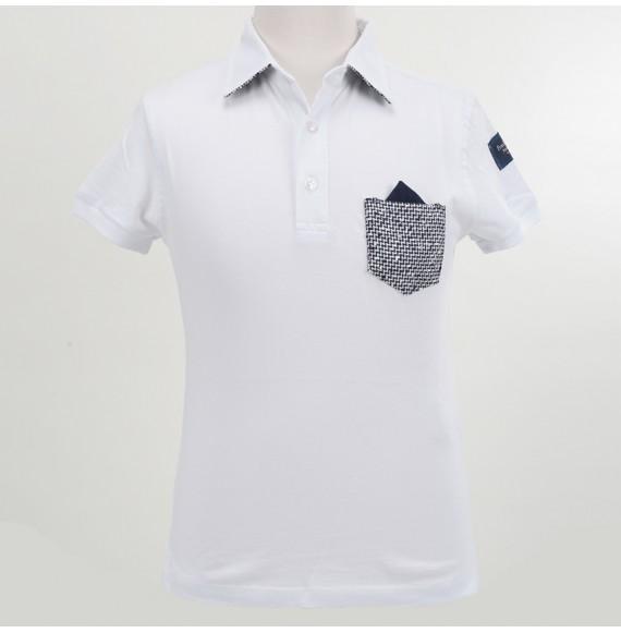 FRED MELLO - Polo con taschino in maglia e pochette