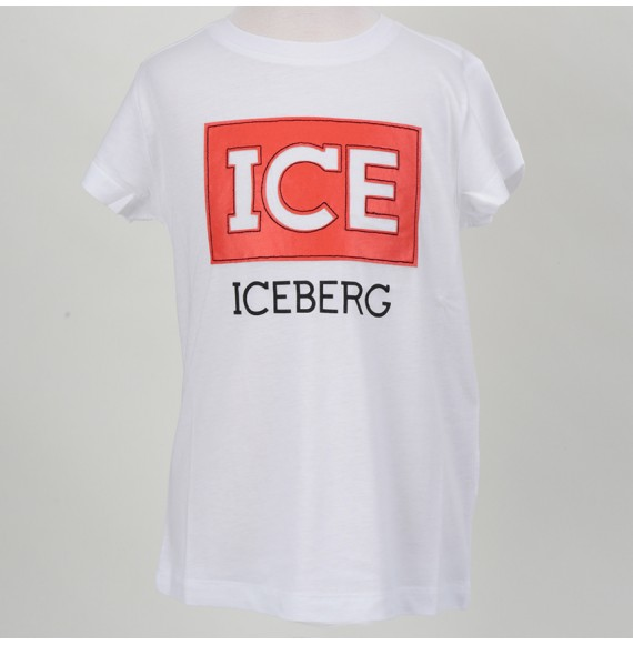 ICEBERG - T-shirt con patch ICE