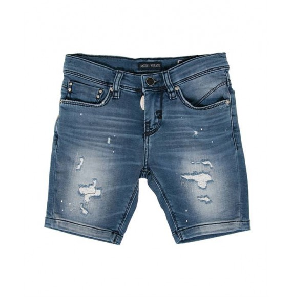 Antony Morato - Bermuda in jeans con strappi