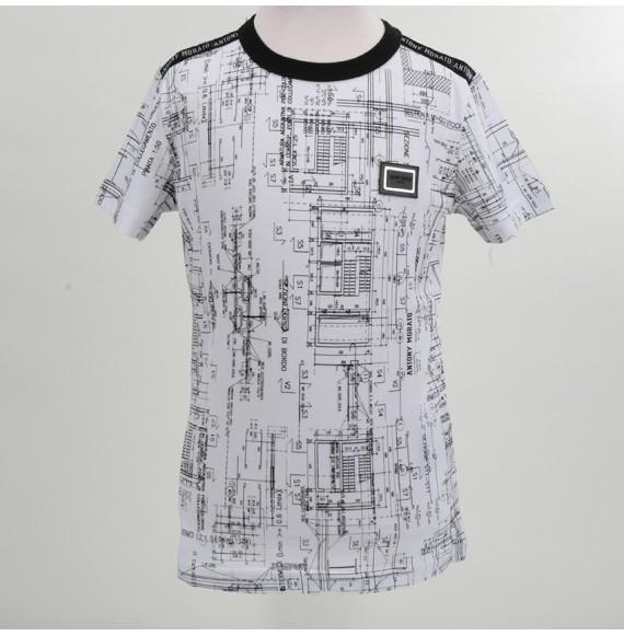 Antony Morato - T-shirt girocollo con stampa e nastro logato