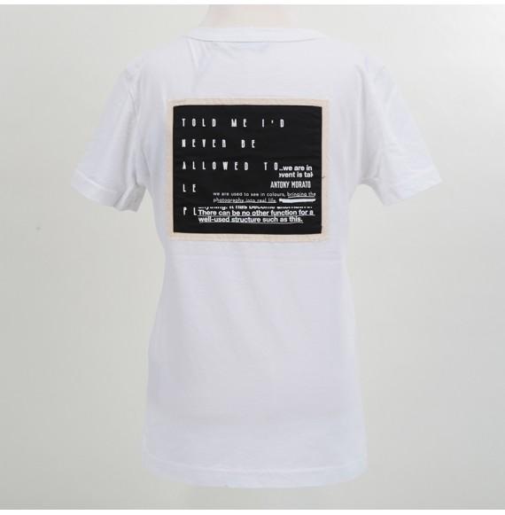 Antony Morato - T-shirt girocollo con stampa e patch sul retro