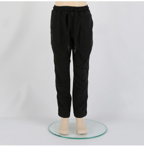 MADD - Pantalone cavallo basso con elastico in vita