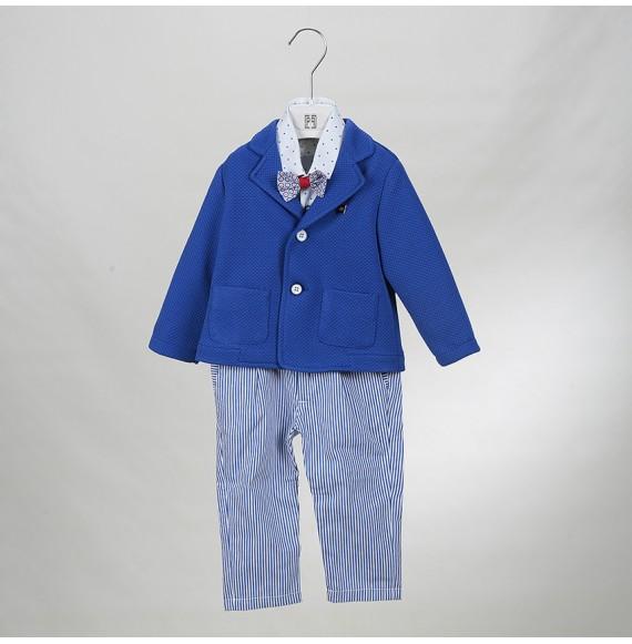 PIGNATELLI - Completo 4 pezzi con giacca e pantalone a righe
