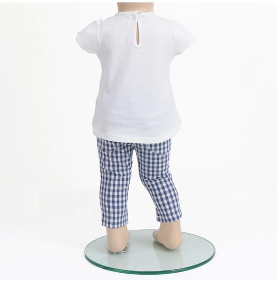 J.O. Milano - Completo pantaloni a quadri e shirt con applicazioni