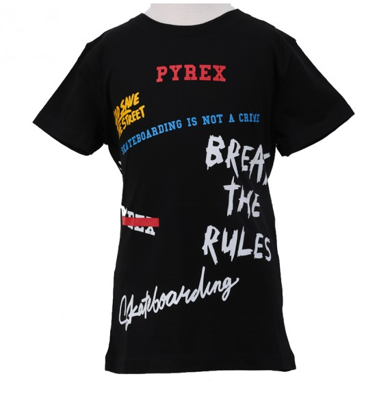 PYREX - T-shirt jersey con stampa multicolor