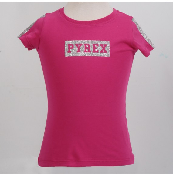 PYREX - T-shirt con stampa glitter
