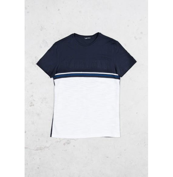 Antony Morato - T-shirt girocollo bicolore con stampa in rilievo