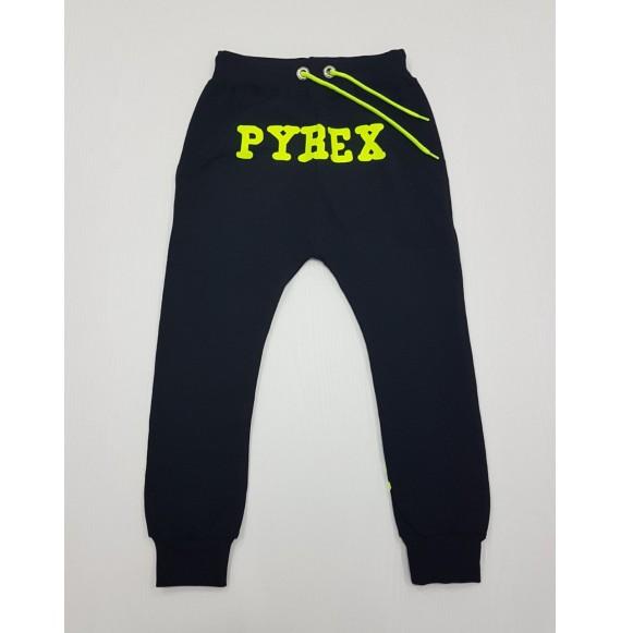 PYREX - Pantalone in felpa con stampa fluo