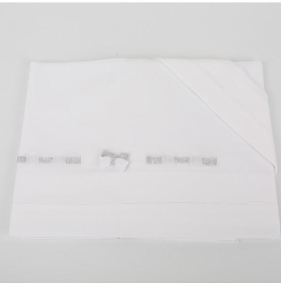 Primodì Bebé - Lenzuolino 3 pezzi per carrozzino con fiocchetti in filo