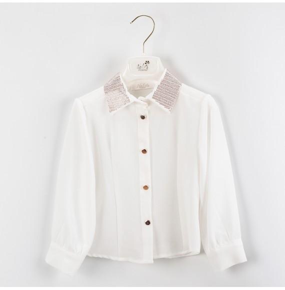 NOLITA - Camicia con collo strass