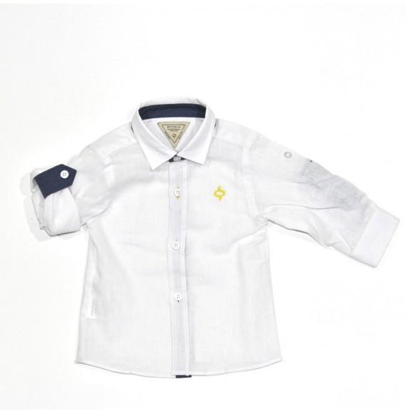Camicia manica lunga in lino