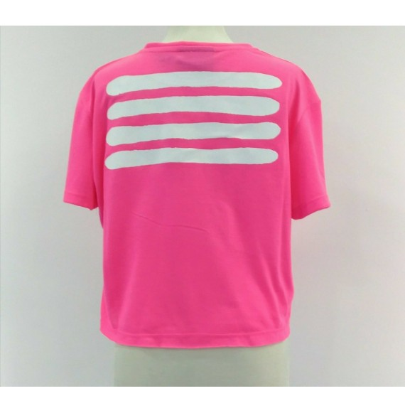 PYREX - T-shirt corta fluo con stampa
