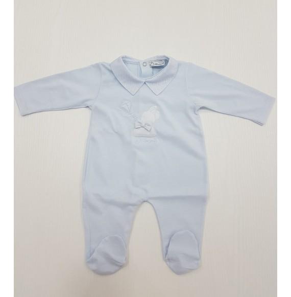 NINNAOH - Tutina in cotone con coniglietto e collo camicia