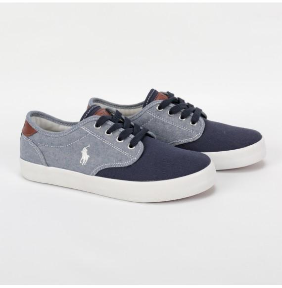 RALPH LAUREN - Sneakers in tela stringata