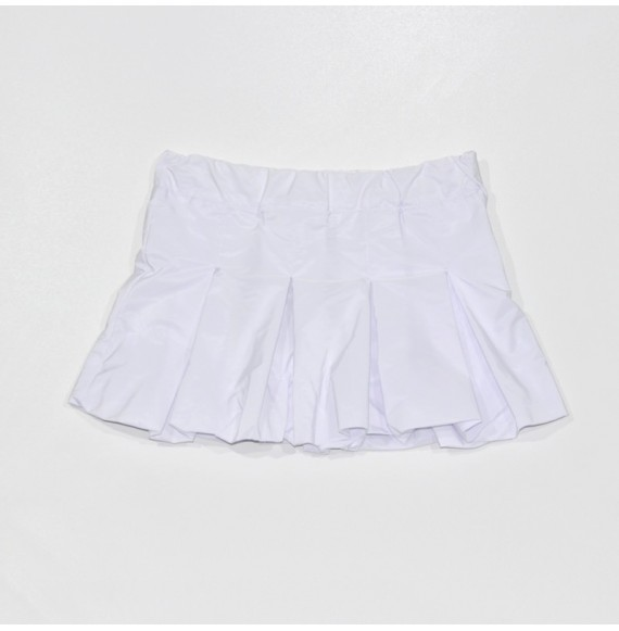 Skirt in taffeta folds