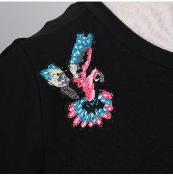 MARCO BOLOGNA - T-shirt con ricamo sulle spalle