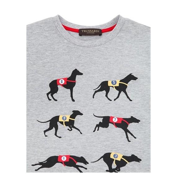 TRUSSARDI - T-shirt con stampa