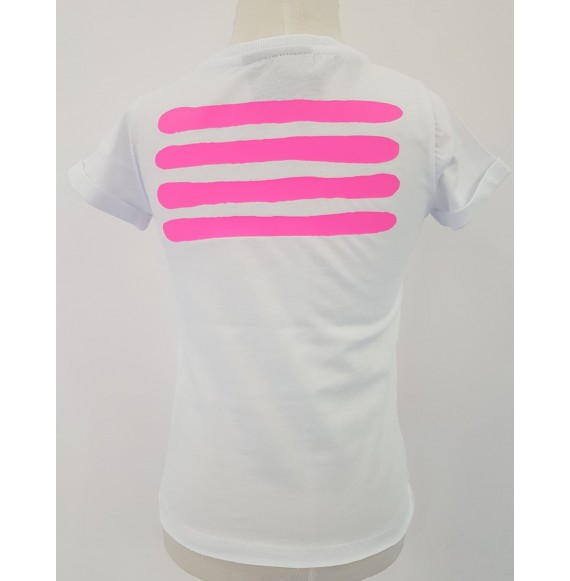 PYREX - T-shirt jersey con stampa fluo sul retro