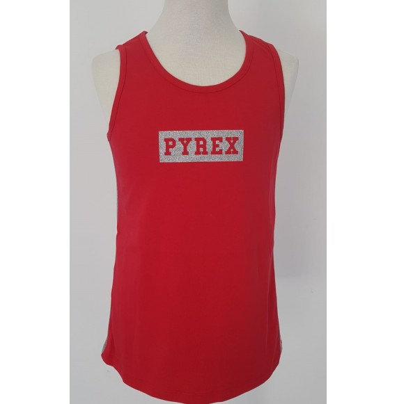 PYREX - Canotta in jersey con stampa glitter