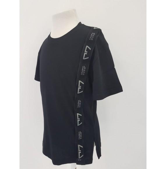 FALORMA - T-shirt girocollo con nastro logato