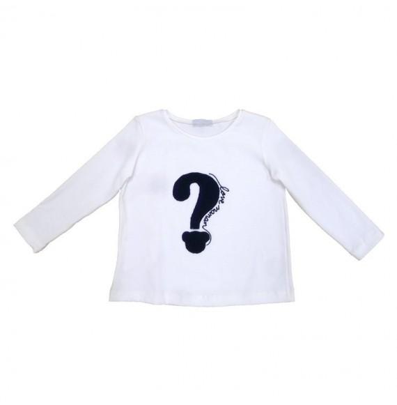 NANAN - T-shirt manica lunga punto interrogativo