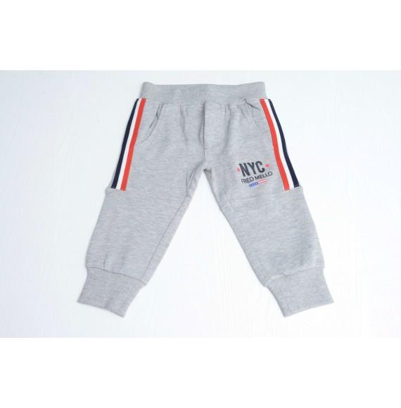 FRED MELLO - Pantalone in felpa con stampa e bande laterali