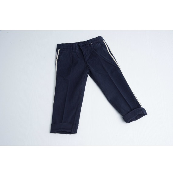 FRED MELLO - Pantalone gabardine con bande laterali