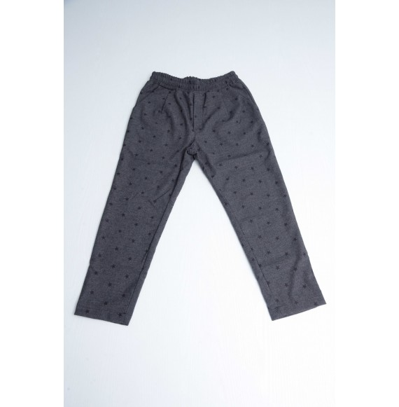 FRED MELLO - Pantalone in flanella stampa stelle