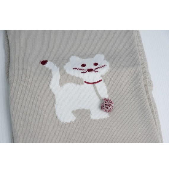 A & J - Copertina scialle in maglia con gattino