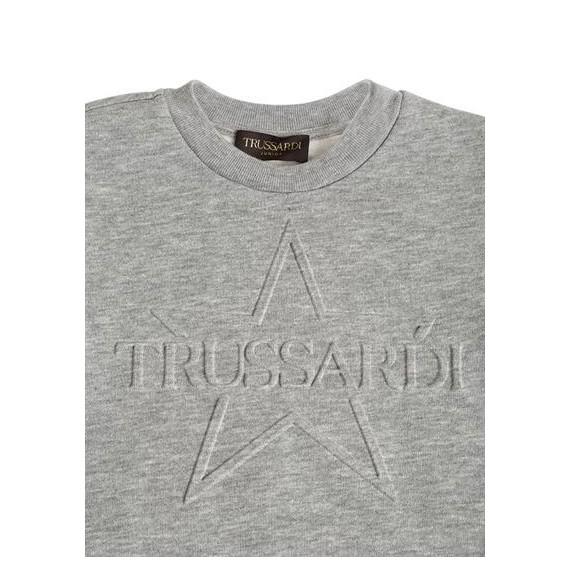 TRUSSARDI - Felpa con stampa in rilievo