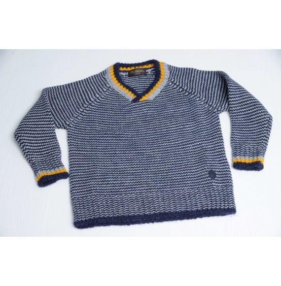 TRUSSARDI - Pullover in lana bicolore