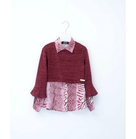 NOLITA - Camicia fantasia con pullover corto