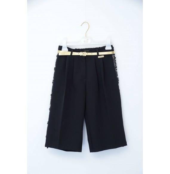 NOLITA - Bermuda giappo con paillettes e cintura in vita