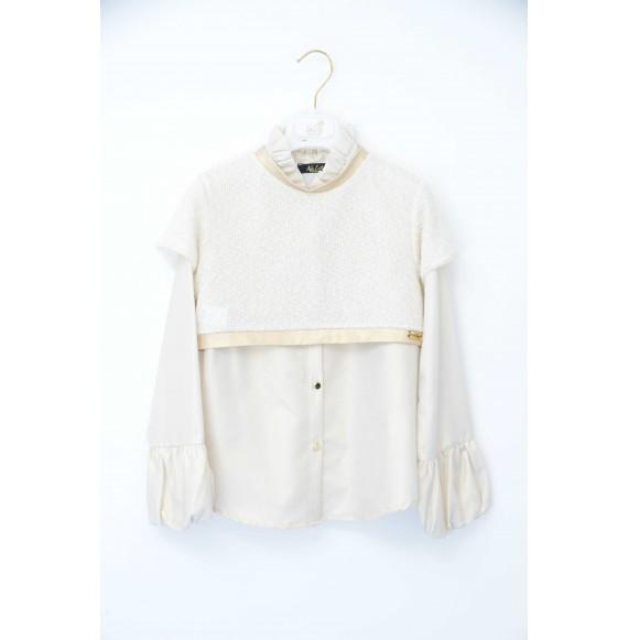 NOLITA - Camicia glitter con pullover corto