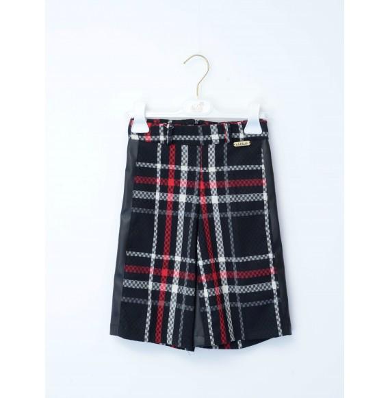 NOLITA - Pantalone giappo a quadri con cintura in vita