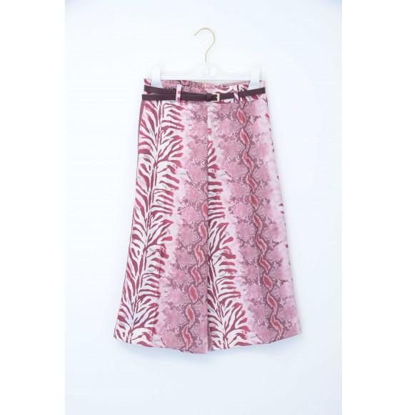 NOLITA - Pantalone giappo animalier con inserti glitter