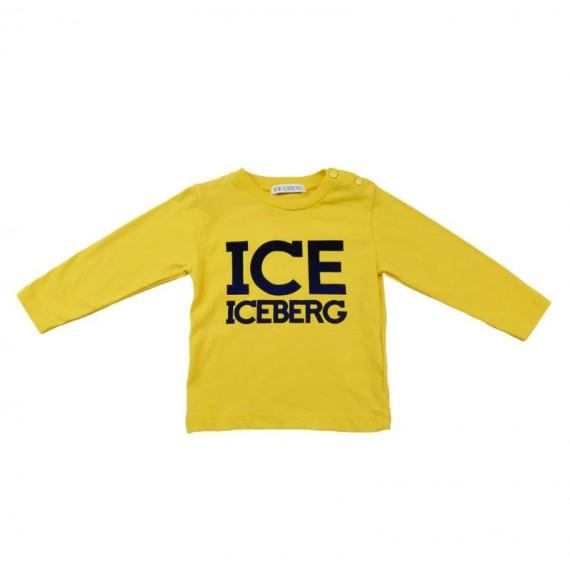 ICEBERG - Maglia girocollo con stampa ICE