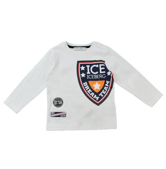 ICEBERG - Maglia girocollo con stampa stemma ICE
