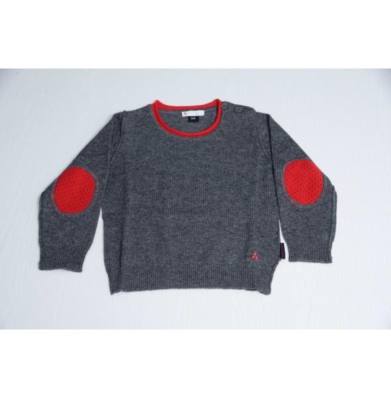 PEUTEREY - Pullover girocollo con toppe a contrasto