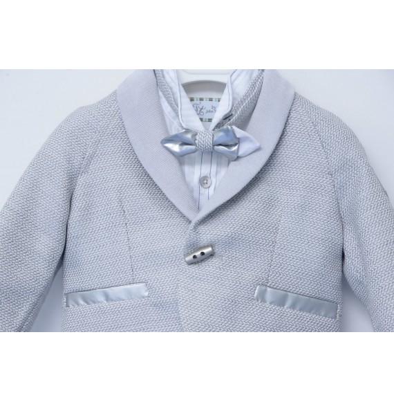 JOHN TWIG - Completo 4 pezzi giacca,bermuda con bretelle,camicia e papillon