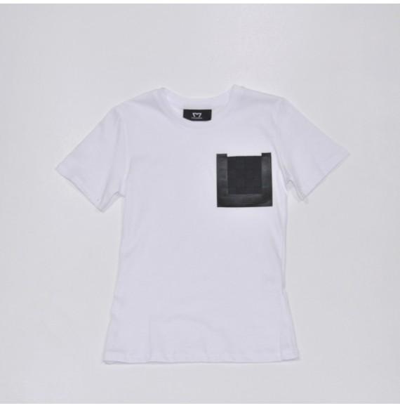 T-shirt con pannello stampato