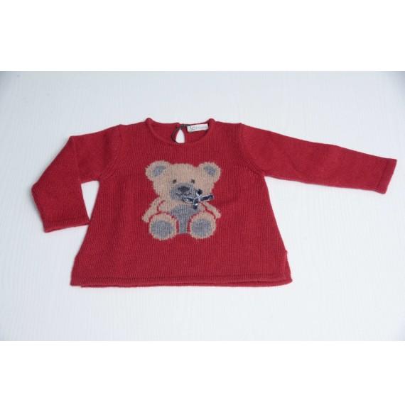 J.O. MILANO - Pullover girocollo con orsetto