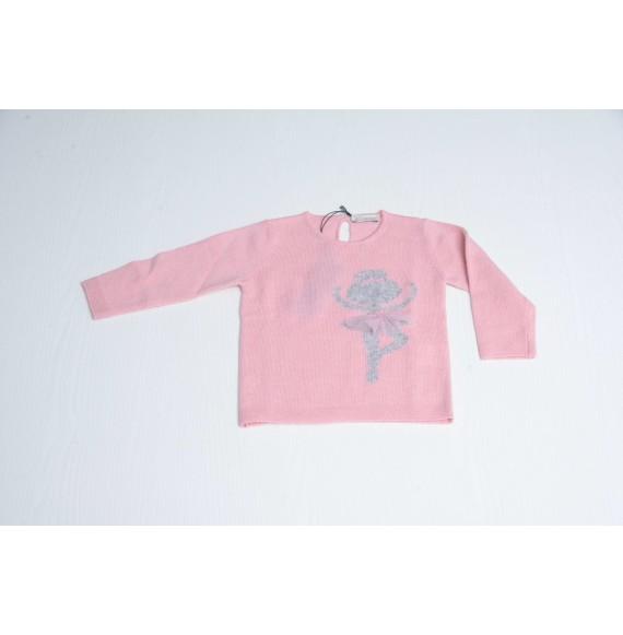 J.O. MILANO - Pullover girocollo con ballerina