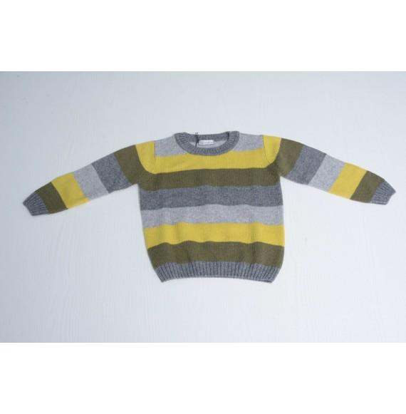 J.O. MILANO - Pullover girocollo a righe